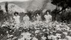 Mujeres en el patio de la Escuela de Totoralillo Archivo Fotográfico Familiar