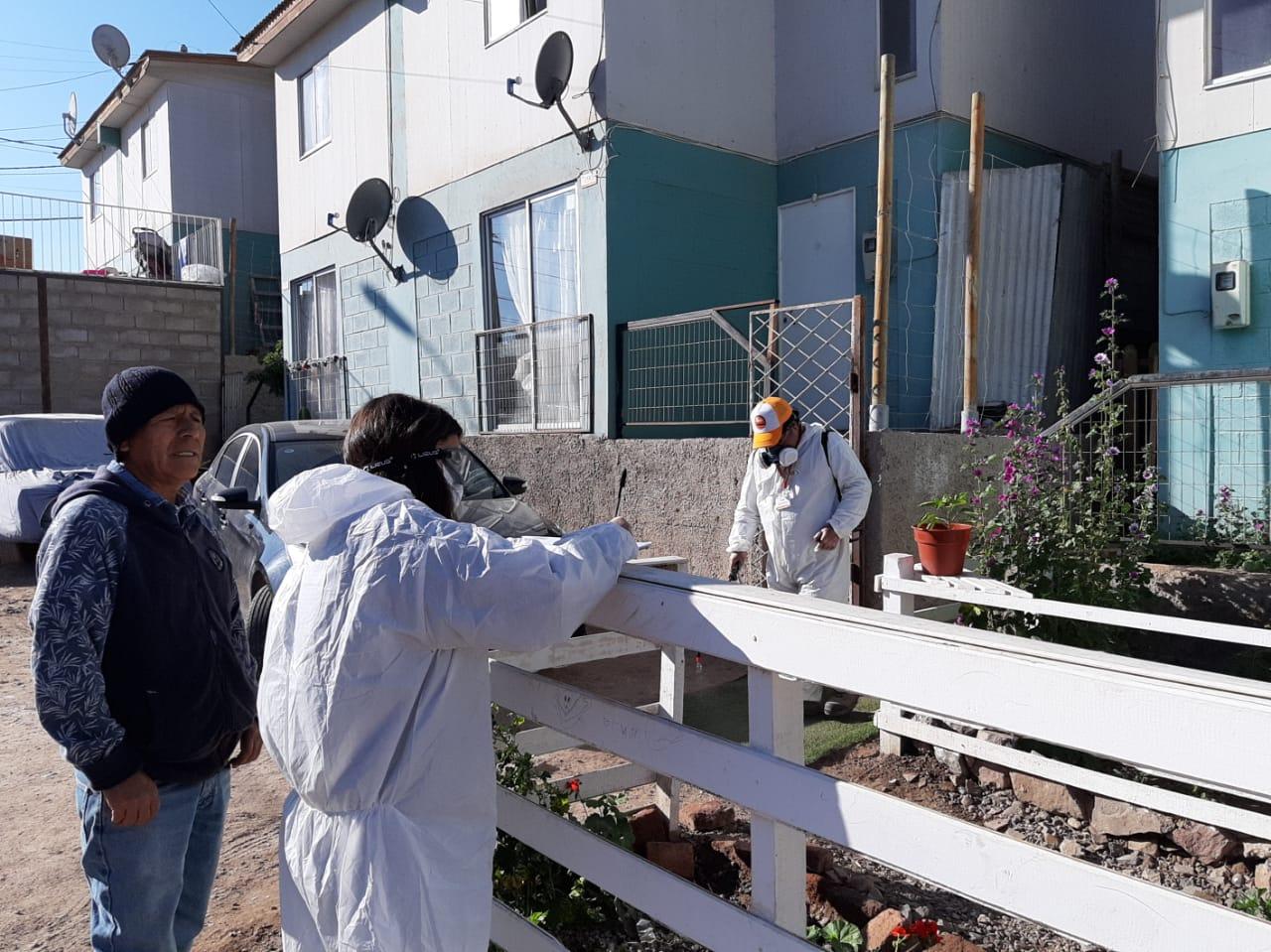 Más de 700 viviendas son sanitizadas en Paipote
